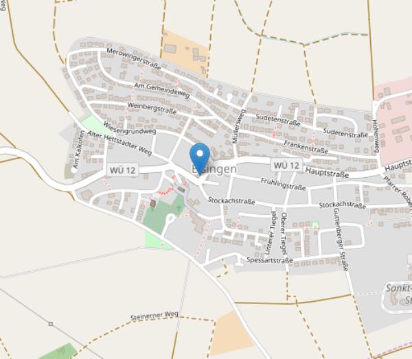 Ortskarte von Eisingen